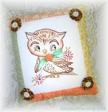 owl home decorations kitty and me designs decorative embroidered pillows for fall and