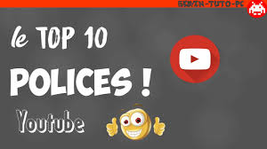 dafont emoji top 10 polices d écriture pour youtube 2017 miniatures bannières