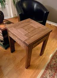2x4 pine wood end table rustic farmhouse style free plans dark
