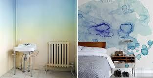 dipingere le pareti della da letto idee per dipingere le pareti sfondi acquerellati e paesaggi naturali
