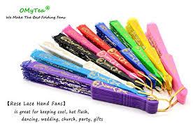 hand held fans for church omytea rose lace folding hand held fans bulk for women spanish