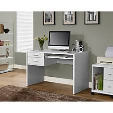 Computer Desks With Keyboard Tray Monarch Specialties Computer Desk With Keyboard Tray White By
