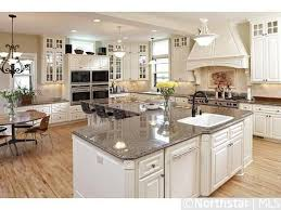 shaped kitchen islands large island with an l shaped kitchen ideas images home
