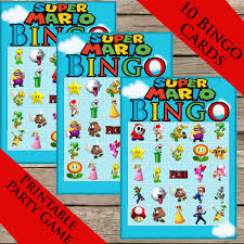 super mario bros bingo 10 extra cards digital download