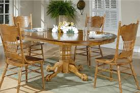 Oak Dining Room Chair Oval Dining Room Table Set Small Modern Kitchen 4489 Oak Dining