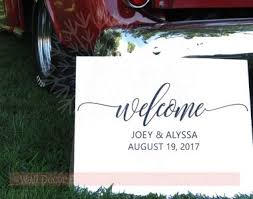 welcome personalized wedding vinyl lettering stickers wall decals