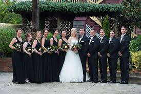 black bridesmaid dresses black bridesmaid dresses groomsmen tuxedos treasury on the plaza