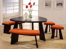 amusing triangle dining table with bench 85 on new design room