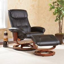 leather recliner chair with ottoman foter