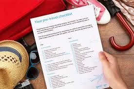 travel checklist images Holiday checklist a printable pre travel planning list good to jpg