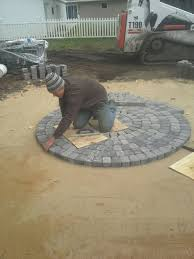 Paver Patios With Fire Pit by Paver Patio With Firepit Clearbrook Landscaping And Lawncare Llc