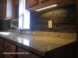 kitchen santa cecilia granite countertops with backsplash