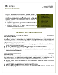 Sample Resume For Career Change by Career Change From Construction Resume