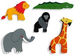 kids fridge magnets african safari animals set alphabet jigsaws