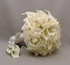 silk flowers for weddings 28 silk flower wedding bouquets light blue calla roses