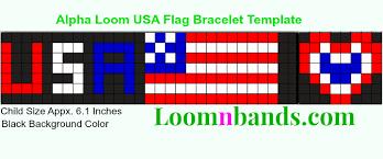 alpha loom usa flag bracelet template alpha loom braceletes to