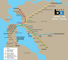 Bart Lines Map by Bart Map San Francisco Pdf Michigan Map