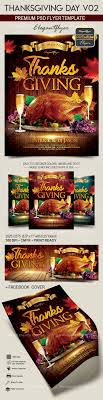 thanksgiving day v02 flyer psd template cover by