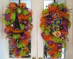 halloween door wreaths backyards deco mesh halloween swag wreaths decoglitz il