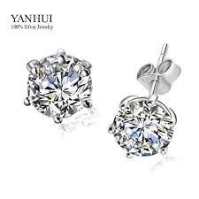 diamond earrings for sale hot sale s925 st 925 sterling silver stud earrings