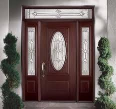 glass panels for front doors belleville mahogany textured 2 panel hollister door 3 4 oval with