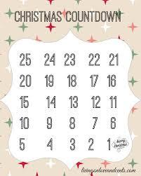 christmas countdown calendar countdown christmas free printable calendar blank calendar