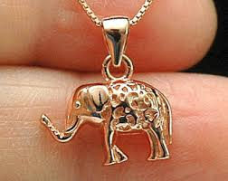 rose gold animal necklace images Rose gold elephant etsy jpg