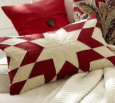 Christmas Pillows Pottery Barn Starburst Quilt Lumbar Pillow Cover Pottery Barn