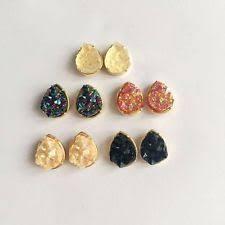 druzy stud earrings druzy earrings ebay