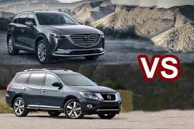 nissan pathfinder 2015 interior 2016 mazda cx 9 vs 2015 nissan pathfinder design youtube