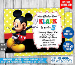 Mickey Mouse Invitation Cards Printable Mickey Mouse Birthday Invitation 2 By Templatemansion On Deviantart