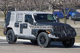 jeep wrangler lowered jlu soft top spied 2018 jeep wrangler forums jl jt