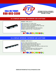 Extreme Led Light Bar by Catalog Extreme Tactical Dynamics