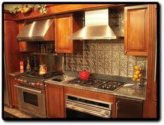 Countertops And Backsplashes Stamped Stainless Steel Backsplash - Stainless steel backsplash lowes