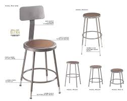 Standard Bar Stool Height National Public Seating Series 6200 Stools