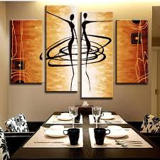 popular abstract dance paintings buy cheap abstract dance order 1 piece hot 4 pcs set modern abstract figures painting printed on canvas dance lover figures golden