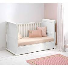 Sleigh Cot Bed East Coast Alaska Sleigh Cotbed With Drawer White Cot Bedding