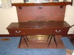 coffin for sale coffin casket wood w stands and id bottle for sale