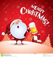 imagenes de santa claus feliz navidad feliz navidad santa claus con la cerveza ilustración del vector