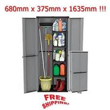 compact garden shed plastic waterproof large storage tools box