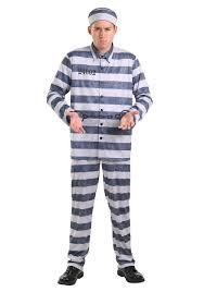 convict halloween costumes plus size vintage prisoner costume for men