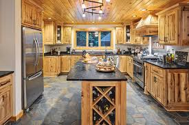 Kitchen Manager Re A Hybrid Half Log Home In Wisconsin