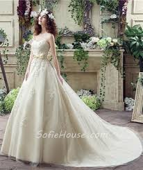 ball gown strapless corset back ivory tulle lace wedding dress