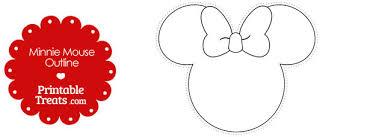 printable minnie mouse outline u2014 printable treats