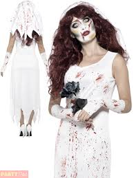 zombie bride costume halloween womens wedding white fancy dress