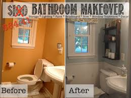 Cheap Bathroom Makeover Ideas Two It Yourself Reveal 100 Small Bathroom Makeover Tons Of