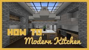 Minecraft Kitchen Furniture How To Build Modern Kitchen Minecraft Youtube