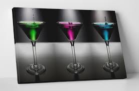 martini cocktail splash martini cocktail splash box canvas print wall art glasses bar