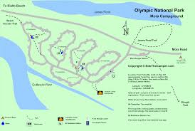 Acadia National Park Map Mora Rialto Beah Campground Map Olympic National Park
