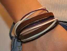 ladies leather strap bracelet images Soft leather multicolour ropes women leather bracelet women wrap jpg